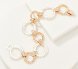 Grace Kelly Collection Two-Tone Interlock Bracelet