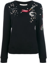 Valentino tattoo embroidered sweatshirt