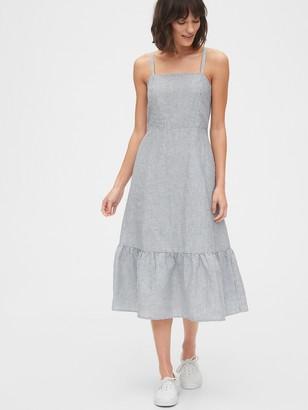 Gap Ruffle Apron Midi Dress
