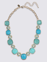 M&S Collection Square Stone Collar Necklace