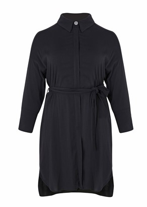 Mat Fashion Long Belted Tunic with Long Sleeves