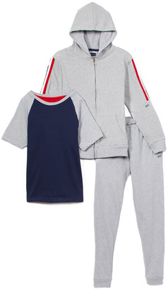 Beverly Hills Polo Club Boys' Casual Pants GREY - Heather Gray Three-Piece Zip-Up Hoodie Set - Toddler & Boys