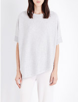 St. John Diagonal-knit wool-blend top
