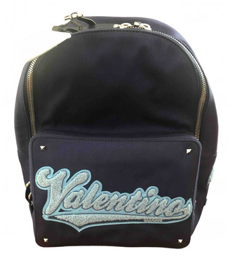 Valentino Blue Cloth Backpacks