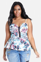Fashion to Figure Grace Floral Peplum Top