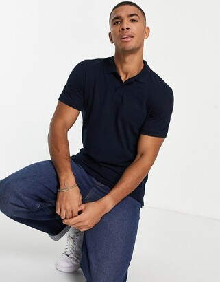 Jack and Jones Essentials slim fit pique logo polo in navy