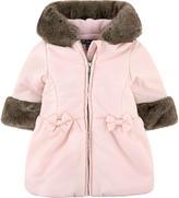 Lili Gaufrette Coat with false fur