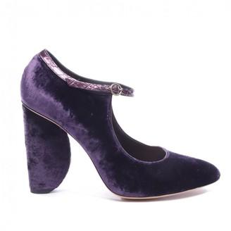 Dries Van Noten Purple Velvet Heels