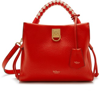 Mulberry Small Iris Lipstick Red Heavy Grain and Silky Calf with Lipstick Red - Chalk handle