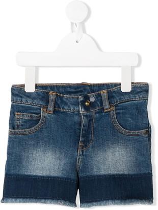 Little Marc Jacobs Raw-Edge Denim Shorts
