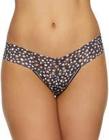 Hanky Panky Low-Rise Polka Dot Lace Thong