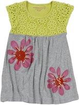 Design History Dress (Toddler/Kids) - Limelight/Marble Heather-4