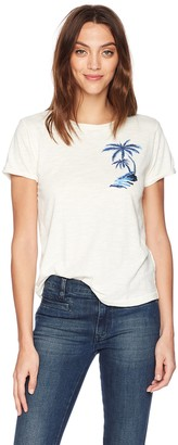Lucky Brand Women's Embroidered Palm Tree Graphic TEE