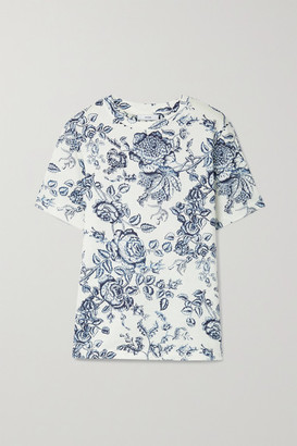 Erdem Hettie Floral-print Cotton-jersey T-shirt - Cream