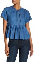 Rebecca Taylor Chambray Silk Blend Shirt
