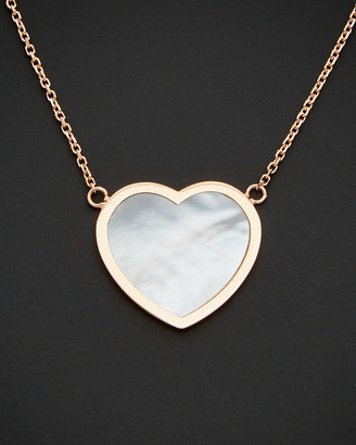 14K Italian Rose Gold Mother-Of-Pearl Heart Necklace