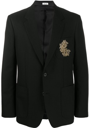 Alexander McQueen Embroidered Suit Jacket