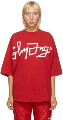 Palm Angels Red Desert Logo Oversized T-Shirt