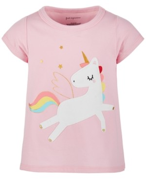 First Impressions Baby Girls Cotton Rainbow Unicorn T-Shirt, Created for Macy's