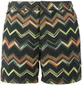 Missoni Green Multi zigzag swim shorts