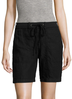 James Perse Women's Solid Drawstring Short