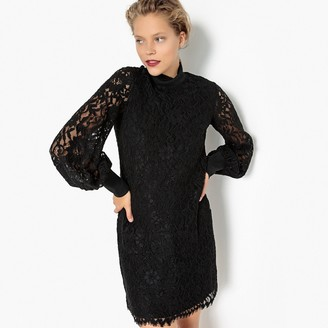 La Redoute Collections High Neck Laced Party Dress