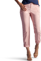 Lee Petite Carsen Relaxed Fit Twill Capris