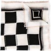 Salvatore Ferragamo chequerboard print scarf