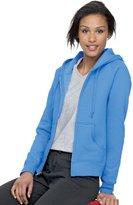 ComfortBend Hanes EcoSmart Cotton-Rich Fu-Zip Hoodie Women's Sweatshirt, Pae Pink Size