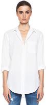Current/Elliott The Prep School Cotton Shirt in Sugar