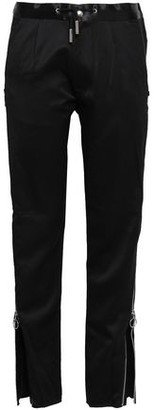 Marques Almeida Marques' Almeida Zip-detailed Wool-sateen Straight-leg Pants