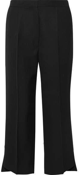 Acne Studios Iris Cropped Wool-twill Wide-leg Pants - Black