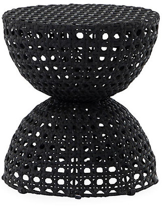 One Kings Lane Kate Outdoor End Table - Black