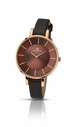 Accurist Womens Analogue Japanese Quartz Watch with Leather Calfskin Strap 8088.01