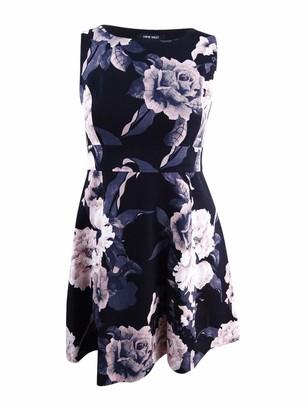 Nine West Women's Floral Printed Crepe Dress