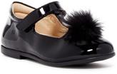 Naturino Faux Fur Pompom Ballet Flat (Baby & Toddler)