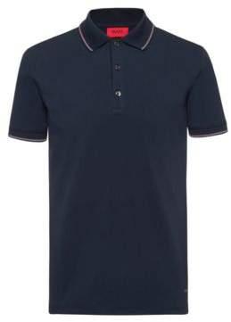 HUGO Slim-fit polo shirt in stretch-cotton pique
