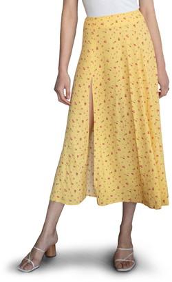 Reformation Zoe Side Slit Midi Skirt
