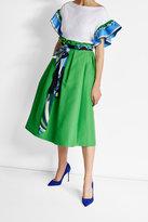 Emilio Pucci Cotton Midi Skirt with Silk