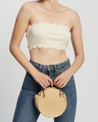 Topshop Lace Bandeau Top