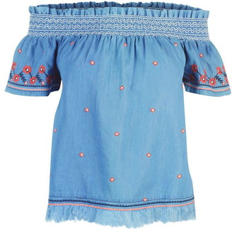 Pepe Jeans Embroidered Chambray Top