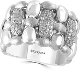 Effy Sterling Silver Diamond Pave Statement Ring - Size 7 - 0.37 ctw