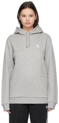 adidas Grey Trefoil Essentials Hoodie
