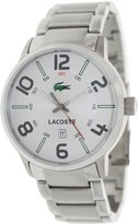 Lacoste Men's Barcelona 2010494 Silver Stainless-Steel Analog Quartz Watch with Dial