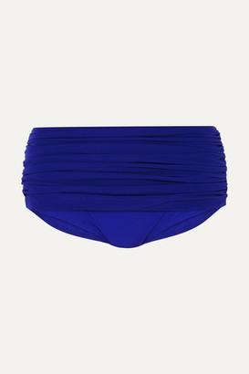 Norma Kamali Bill Ruched Bikini Briefs - Cobalt blue