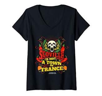 Womens Original Chili Pepper Fan Design Scoville V-Neck T-Shirt