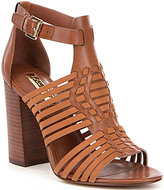 Lauren Ralph Lauren Harietta Burnished Calf Banded Block Heel Dress Sandals