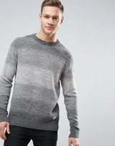 Jack and Jones Originals Knitted Jumper With Mixed Yarn Detail