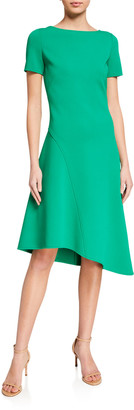 St. John Luxe Knit Bateau Dress