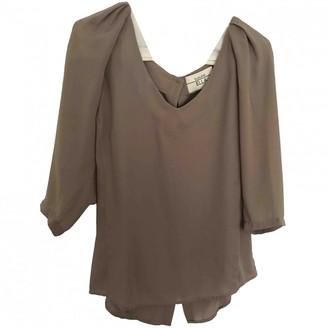 ELLA LUNA Grey Silk Top for Women